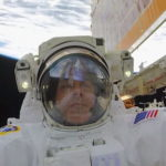 This astronaut cheered his national soccer team from space